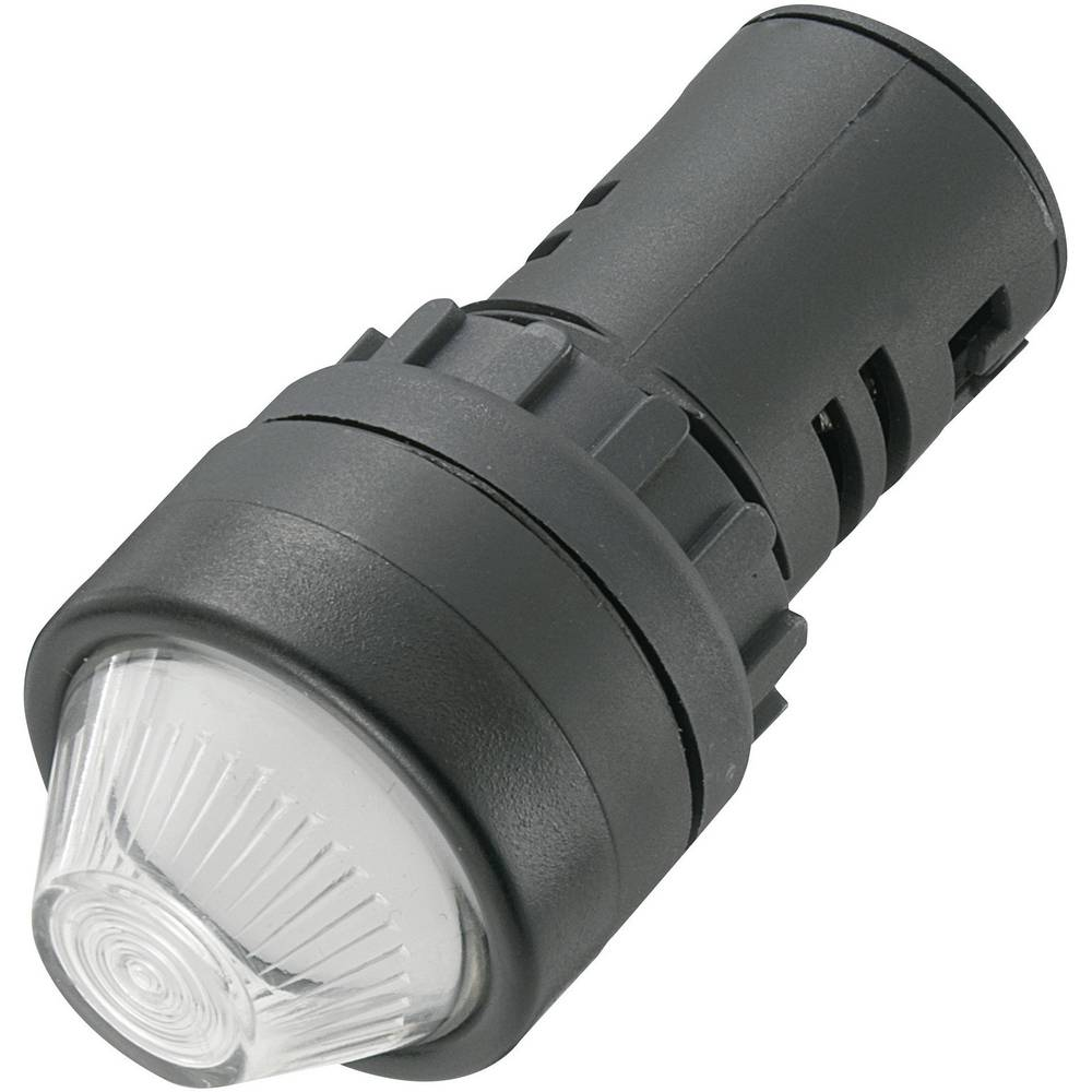 LED signalna lučka, bele barve, 230 V/AC TRU Components AD16-22HS/230V/W