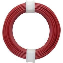 Vodnik 1 x 0.2 mm rdeče barve BELI-BECO D 105/10 10 m