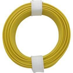 Vodnik 1 x 0.2 mm rumene barve BELI-BECO D 105/10 10 m