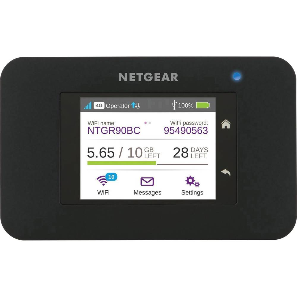 Netgear Aircard 790 mobilna LTE-WLAN dostopna točka do 15 naprav, črne barve