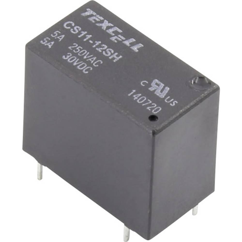 Rele za tiskana vezja 12 V/DC 5 A 1 zapiralni Texcell CS11-12SH 1 kos