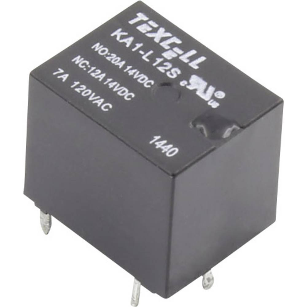 Printrelais (value.1292897) 12 V/DC 25 A 1 Wechsler (value.1345271) Texcell KA1-L12S 1 stk