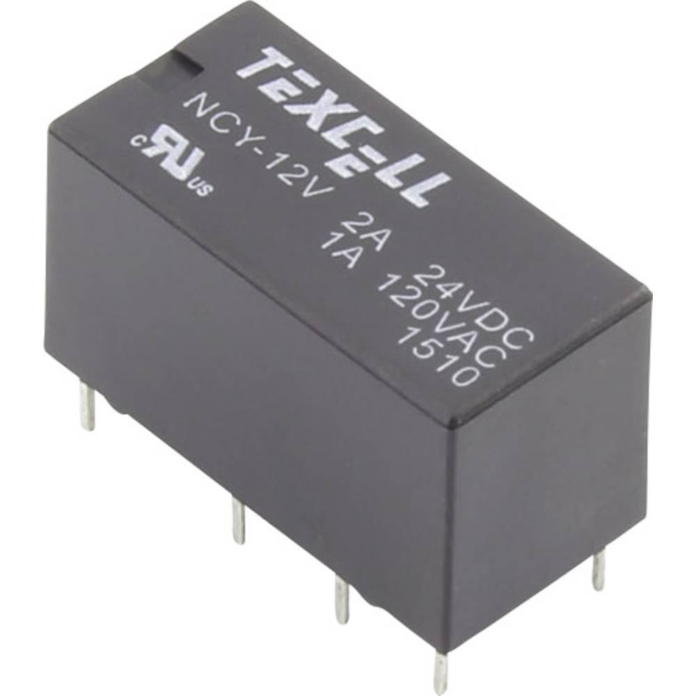 Printrelais (value.1292897) 12 V/DC 2 A 2 Wechsler (value.1345274) Texcell NCY-12V 1 stk