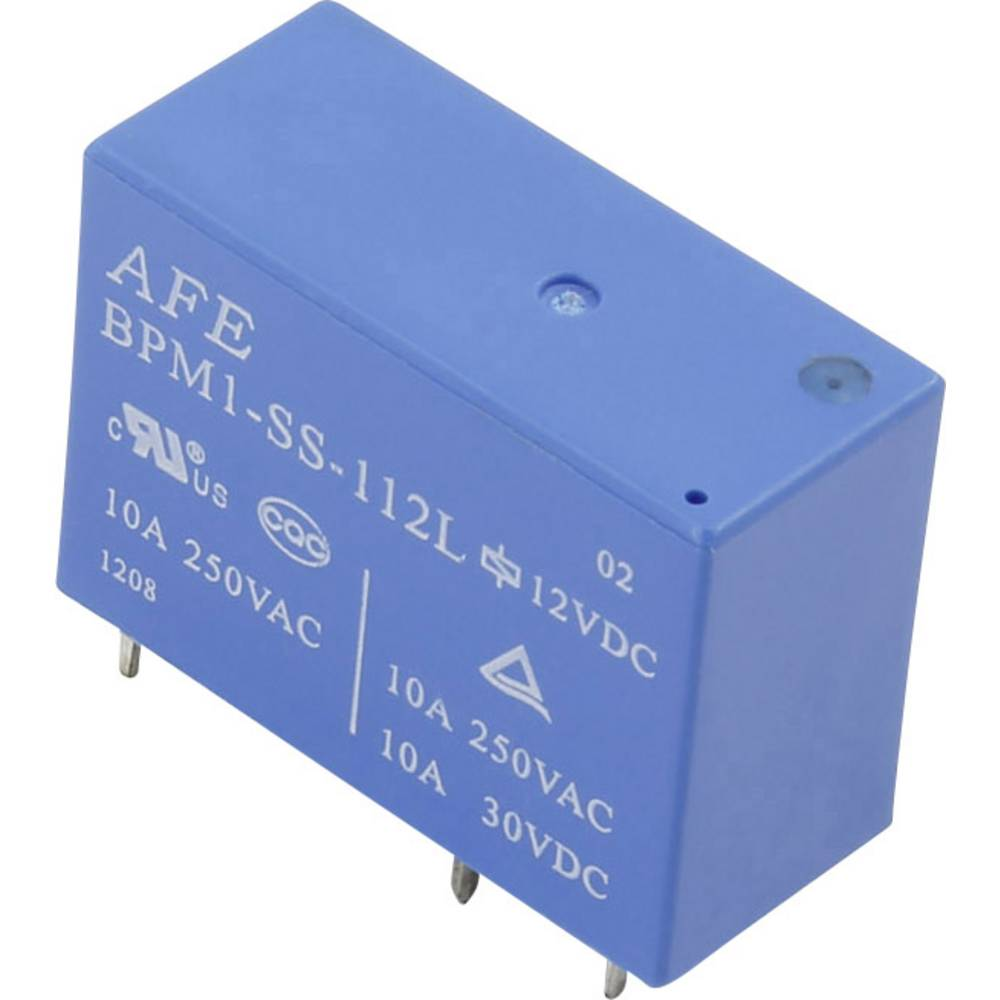 Printrelais (value.1292897) 12 V/DC 10 A 1 Wechsler (value.1345271) AFE BPM1-SS-112L 1 stk