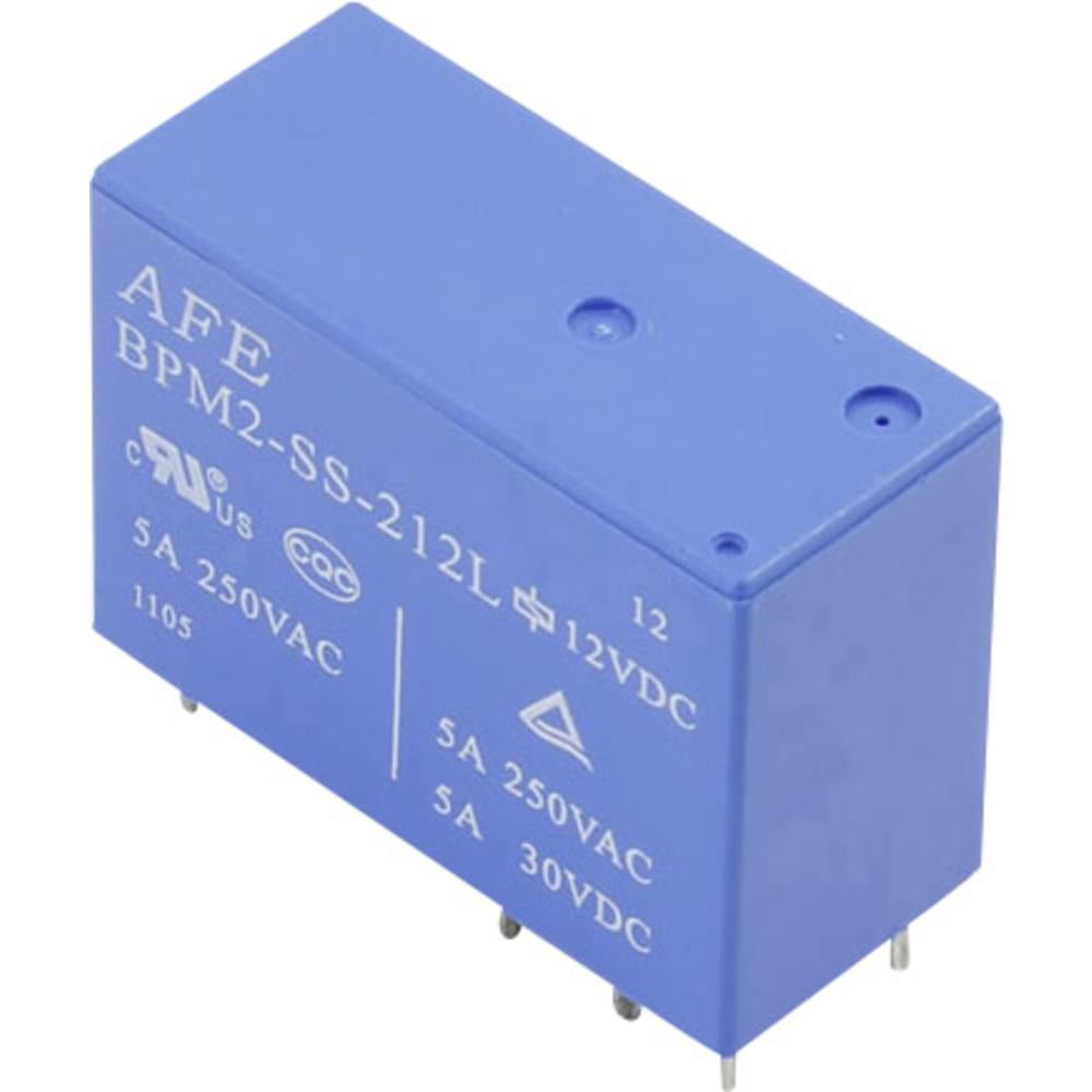 Relej za tiskanu pločicu 12 V/DC 5 A 2 preklopni AFE BPM2-SS-212L 1 kom.