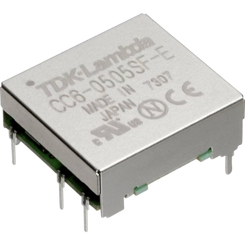 DC/DC pretvornik za tiskano vezje TDK-Lambda CC-6-2412SF-E 24 V/DC 12 V/DC, 15 V/DC 0.5 A 6 W št. izhodov: 1 x