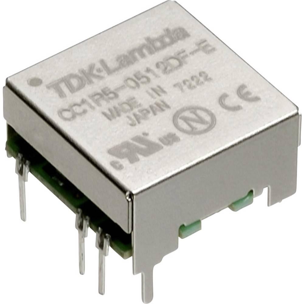 DC/DC pretvornik za tiskano vezje TDK-Lambda CC-1R5-4812SF-E 48 V/DC 12 V/DC, 15 V/DC 0.125 A 1.5 W št. izhodov: 1 x