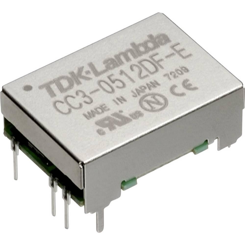 DC/DC pretvornik za tiskano vezje TDK-Lambda CC-3-1212SF-E 12 V/DC 12 V/DC, 15 V/DC 0.25 A 3 W št. izhodov: 1 x