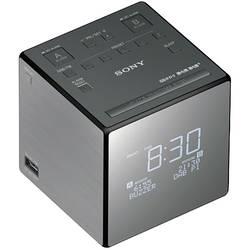 DAB+ radijska budilka Sony XDR-C1DBP DAB+, UKW akumulatorsko polnjenje, srebrne barve, črne barve