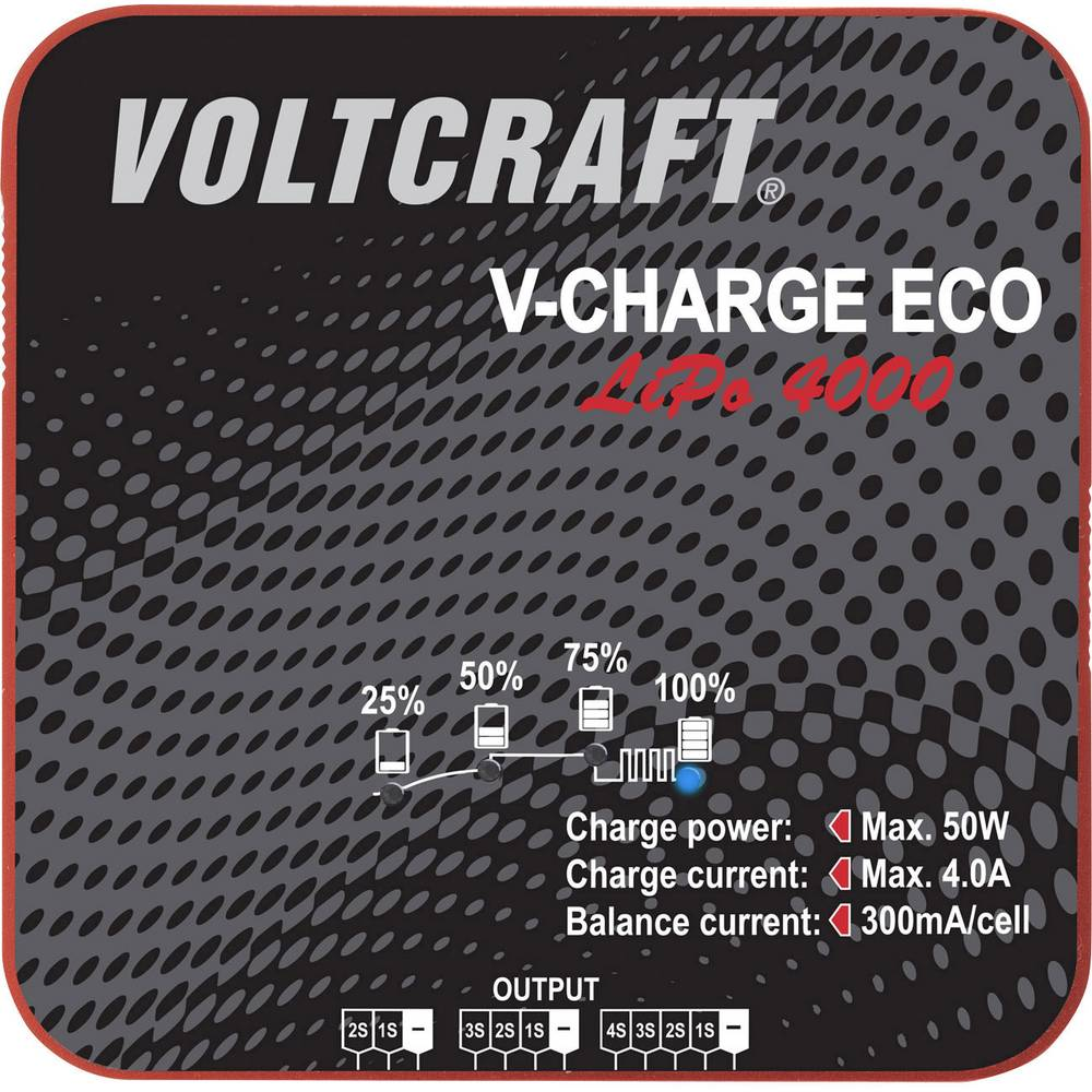 Napajalnik za modelarstvo 230 V, 115 V 4 A VOLTCRAFT V-Charge Eco LiPo 4000 LiPo
