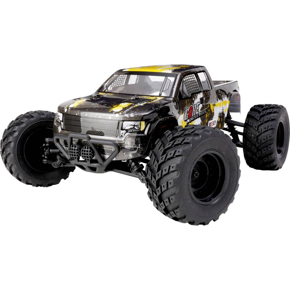 Reely Core Brushed 1:10 XS RC model avtomobila na električni pogon, Monstertruck pogon na vsa kolesa RtR 2,4 GHz