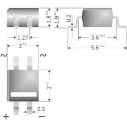 Mostični usmernik Diotec MYS250 MicroDIL 600 V 0.5 A enofazni