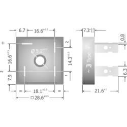 Mostični usmernik Diotec KBPC10/15/2502FP KBPC 200 V 25 A enofazni