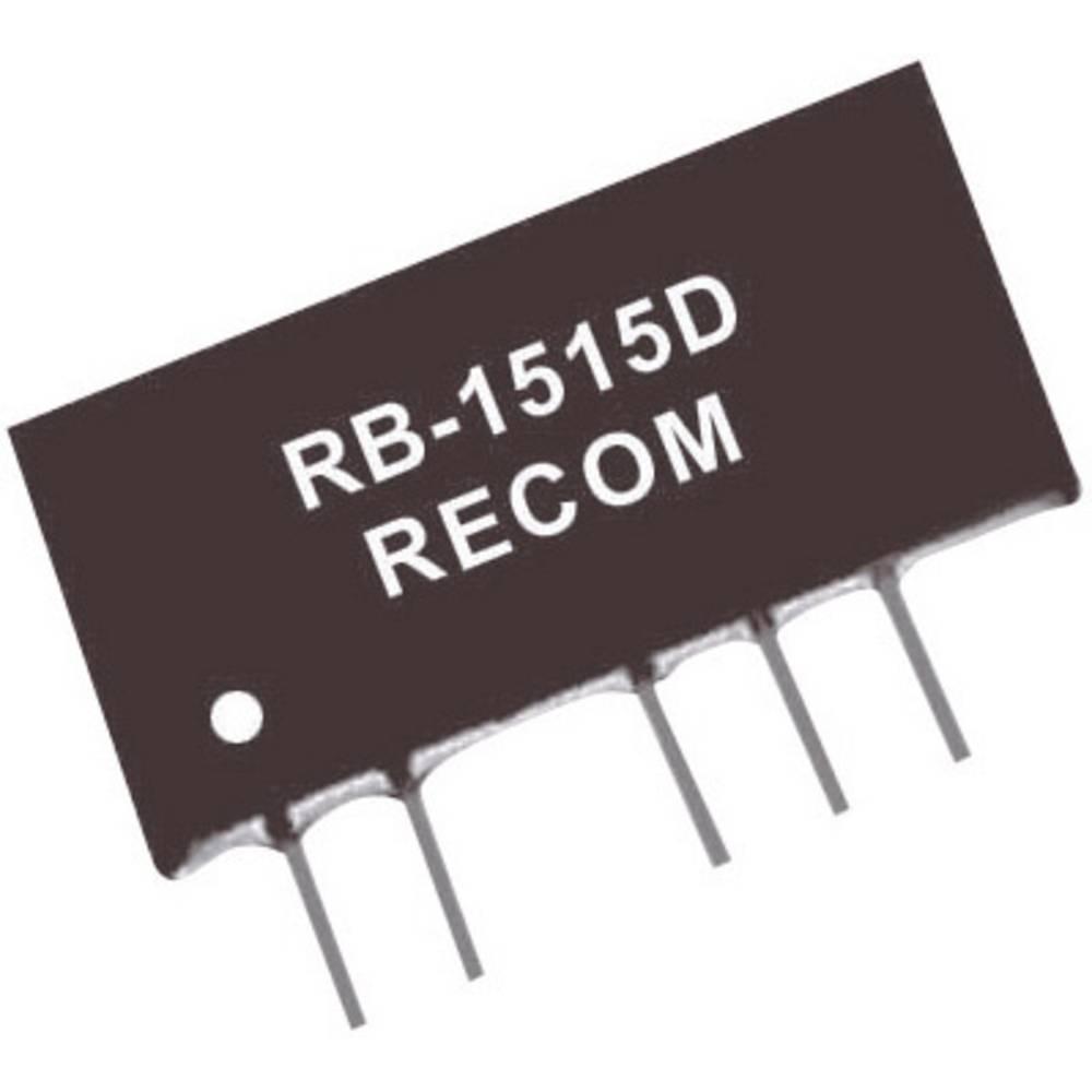 DC/DC pretvornik za tiskano vezje RECOM RB-1505D 15 V/DC 5 V/DC, -5 V/DC 100 mA 1 W št. izhodov: 2 x