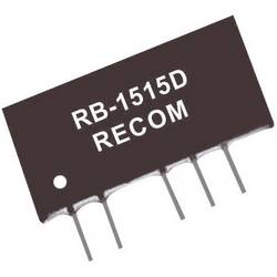 DC/DC-omformer, print RECOM RB-1212D 12 V/DC 12 V/DC, -12 V/DC 42 mA 1 W