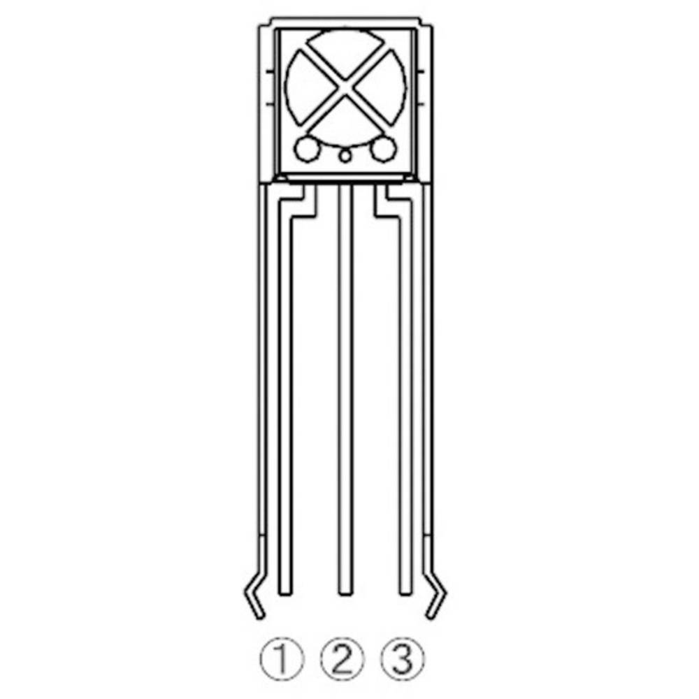 IR senzor, posebna oblika, aksialno ožičen 940 nm ROHM Semiconductor RPM7138-H4R