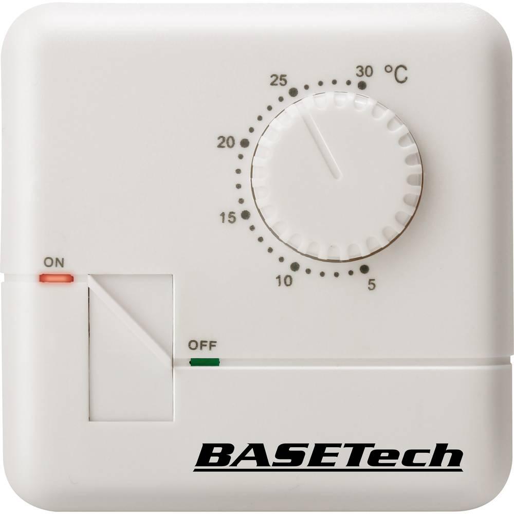 Sobni termostat, nadžbukna montaža, dnevni program od 5 do 30 °C Basetech MH-555C