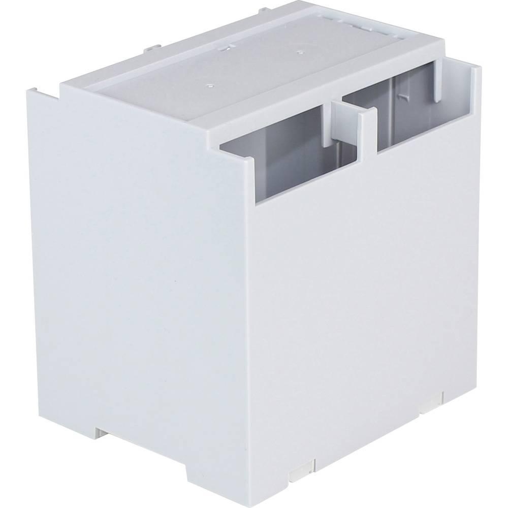 DIN-skinnekabinet Axxatronic CDIB/6ST/D2-KIT-CON Låg grå 106.2 x 100 x 31.9 Polycarbonat Grå 1 stk