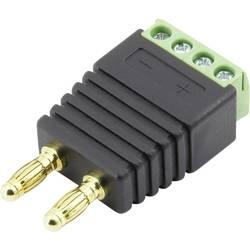 laboratorijski moški konektor ravni moški konektor Premer pina: 4 mm črna TRU COMPONENTS 93013c1129 1 KOS