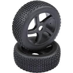 Reely 1:8 Buggy, komplet koles Multipin 5-krakov črne barve, 1 par