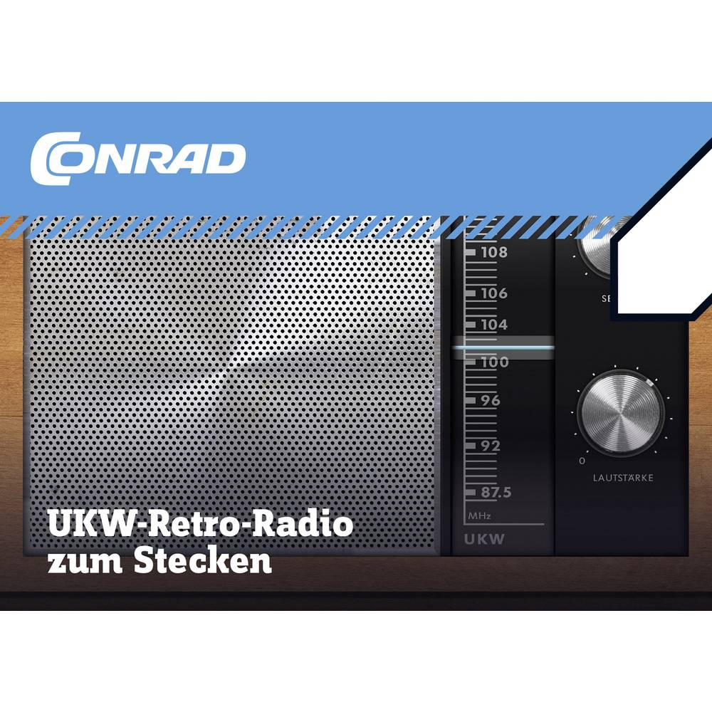 Retro radio Conrad Components UKW radio 10196