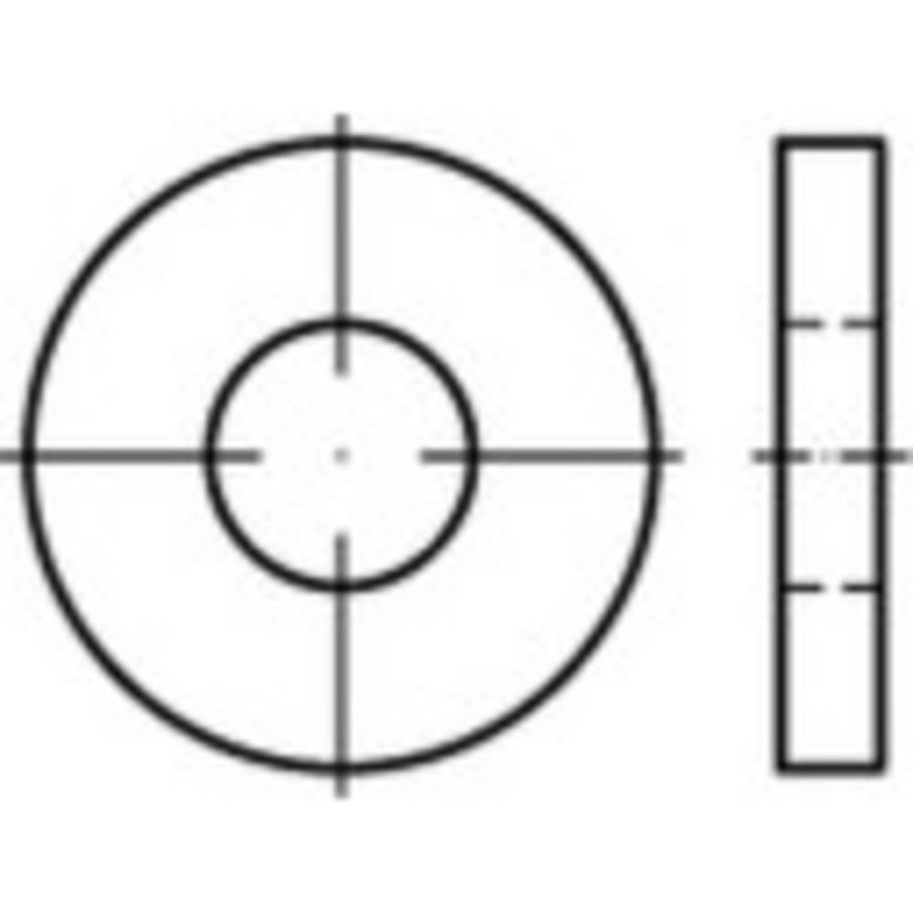 Brickor TOOLCRAFT 1067783 6.4 mm DIN 7349 Rostfritt stål A2 100 st