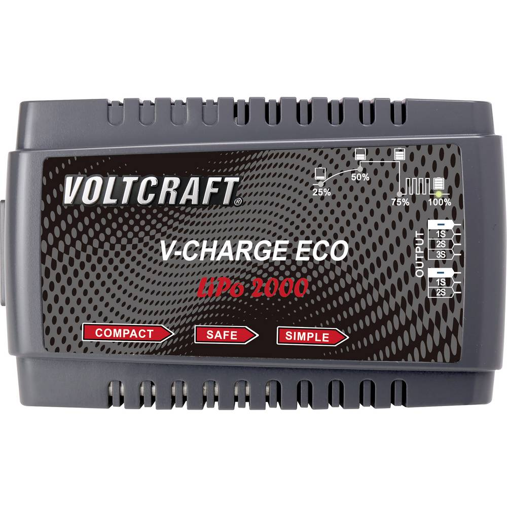 Napajalnik za modelarstvo 230 V 2 A VOLTCRAFT V-Charge Eco LiPo 2000 LiPo
