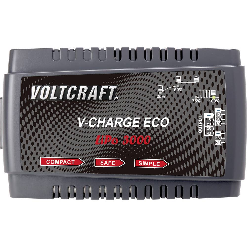 Napajalnik za modelarstvo 230 V 3 A VOLTCRAFT V-Charge Eco LiPo 3000 LiPo