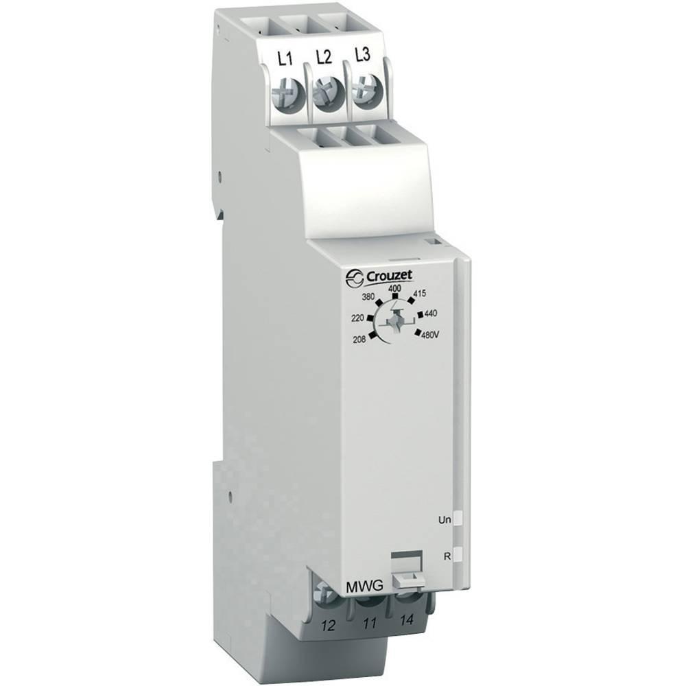 Overvågningsrelæer 208 - 480 V/AC 1 x skiftekontakt 1 stk Crouzet MWG Fasefølge, Faseudfald