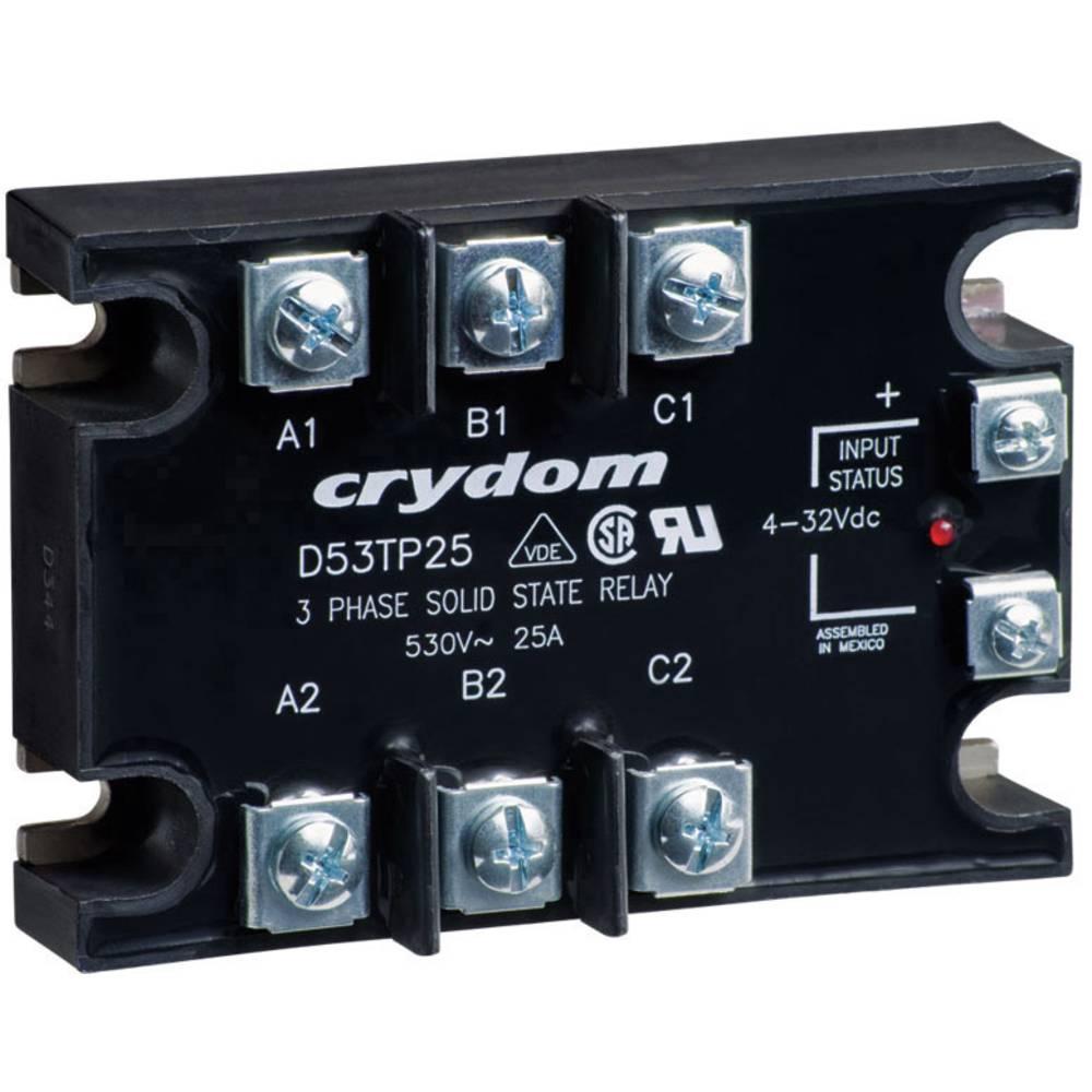 Halbleiterrelais (value.1292894) 1 stk Crydom A53TP25D Last-Strøm (maks.): 25 A Koblingsspænding (max.): 530 V/AC Vekslende ved
