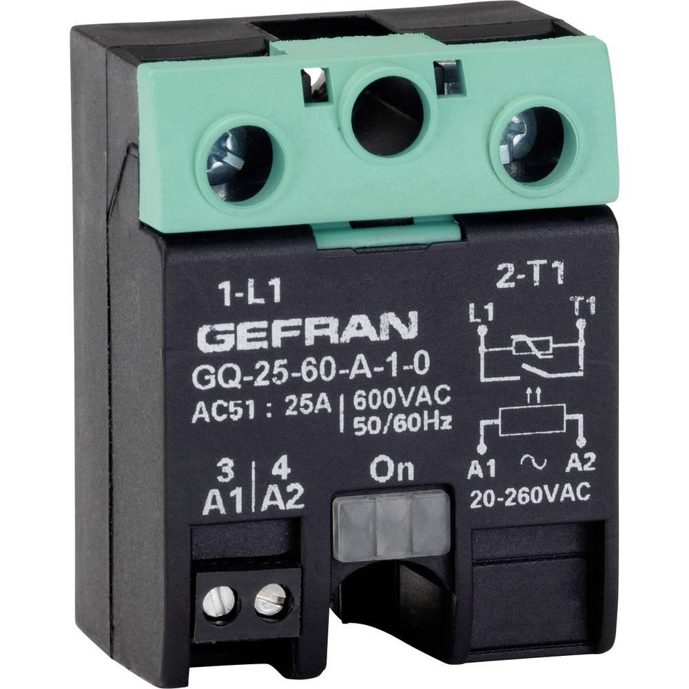 Halbleiterrelais (value.1292894) 1 stk Gefran GQ-25-60-D-1-3 Last-Strøm (maks.): 25 A Koblingsspænding (max.): 600 V/AC Vekslend