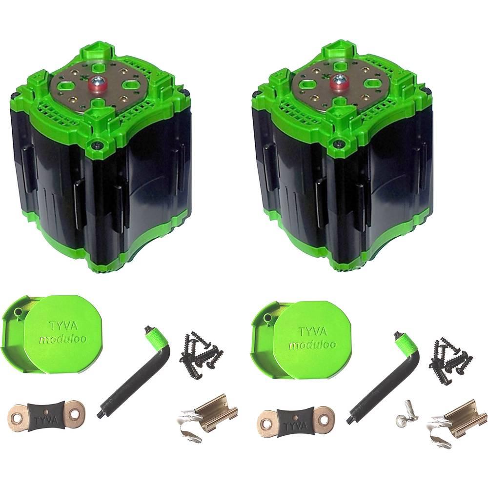 TYVA Li-Ion 2 x modul 3.2 - 3.6 V za paket paralelnih akumulatorjev, 8 x 18650 M4-vijačni zaklep (D x Š x V) 75 x 75 x 106 mm TY