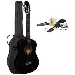 Akustisk gitarr MSA Musikinstrumente 4/4 Svart inkl. väska