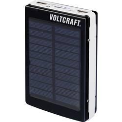 Solcells-powerbank VOLTCRAFT PB-21 Li-Ion 13000 mAh Svart-vit