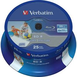 blu-ray bd-r sl prazan 25 GB Verbatim 43811 25 St. vreteno za tiskanje, premaz protiv ogrebotina