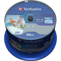 blu-ray bd-r sl prazan 25 GB Verbatim 43812 50 St. vreteno za tiskanje