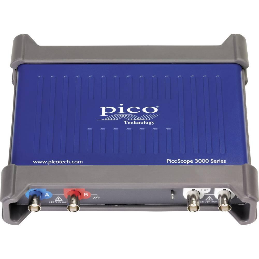 USB-osciloskop pico PicoScope 3205D 100 MHz 2-kanalni 500 MSa/s 128 Mpts digitalni pomnilnik (DSO), funkcijski generator