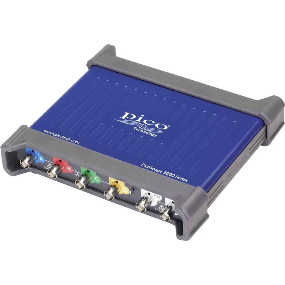 USB-osciloskop pico PicoScope 3405D 100 MHz 4-kanalni 250 MSa/s 64 Mpts digitalni pomnilnik (DSO), funkcijski generator