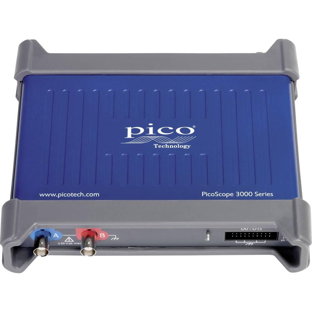 USB-osciloskop pico PicoScope 3203D MSO 50 MHz 18-kanalni 500 MSa/s 32 Mpts digitalni pomnilnik (DSO), mešani signal (MSO), funk