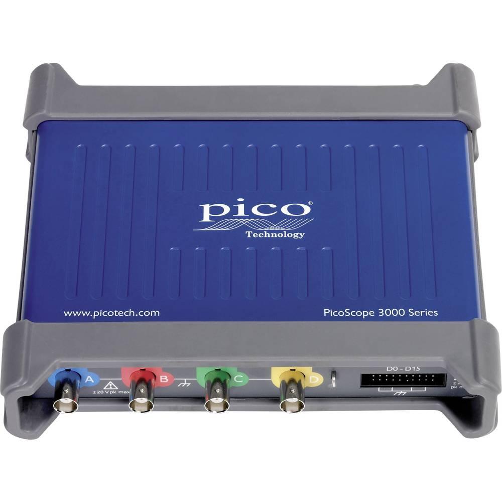 USB-osciloskop pico PicoScope 3404D MSO 70 MHz 20-kanalni 250 MSa/s 32 Mpts digitalni pomnilnik (DSO), mešani signal (MSO), funk