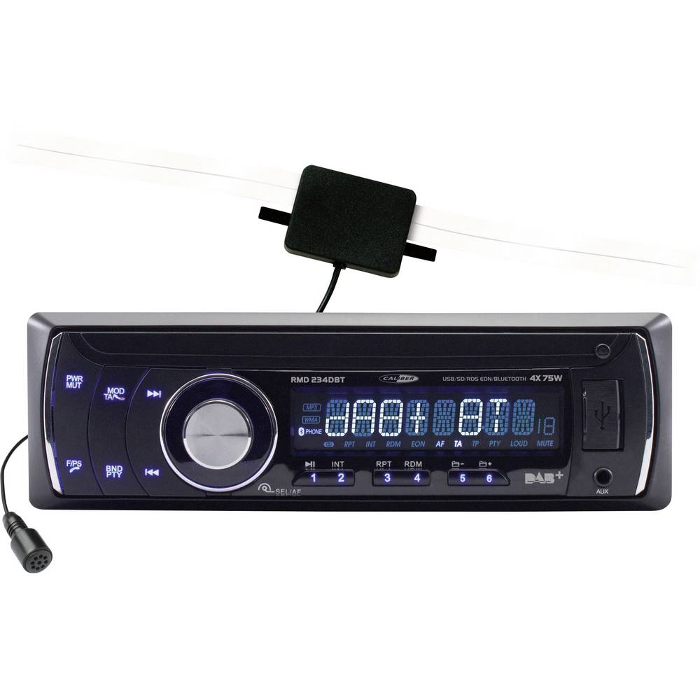 Bilradio Caliber Audio Technology RMD 234DBT DAB+ tuner, Håndfrit Bluetooth®-system