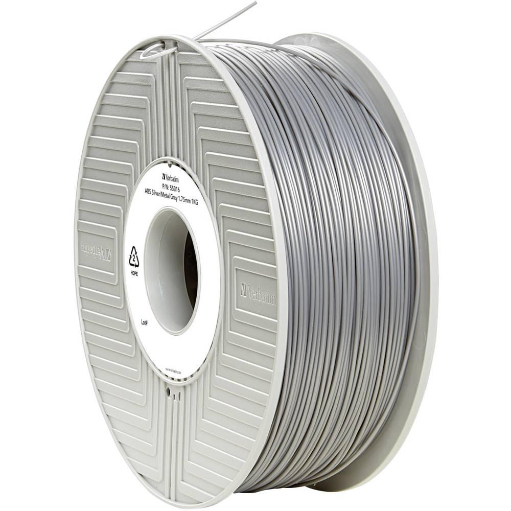 Filament Verbatim 55016 ABS 1.75 mm srebrne barve-metalik (mat) 1 kg