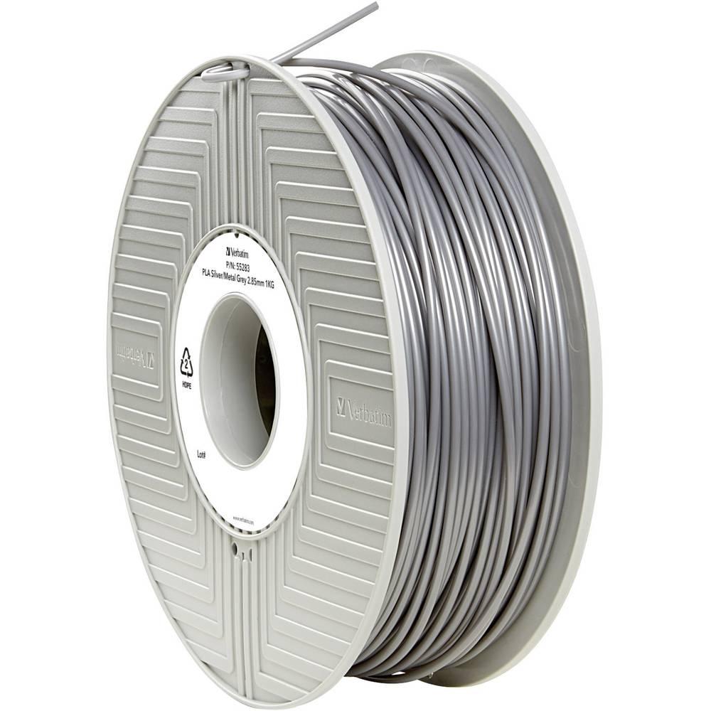 Filament Verbatim 55283 PLA 2.85 mm srebrne barve-metalik (mat) 1 kg