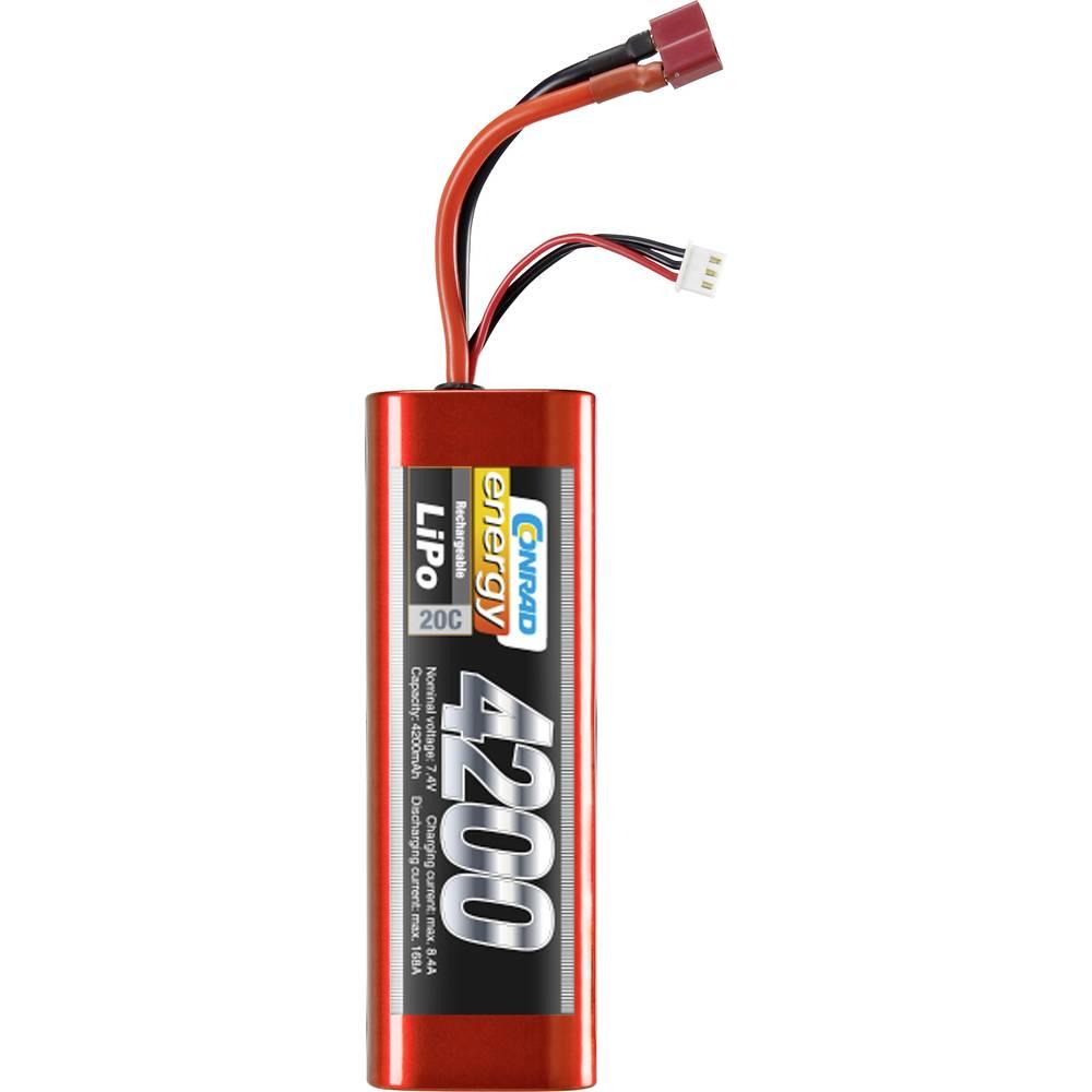 Modelarstvo - akumulatorski paket (LiPo) 7.4 V 4200 mAh 20 C Conrad energy Hardcase T-vtičnica