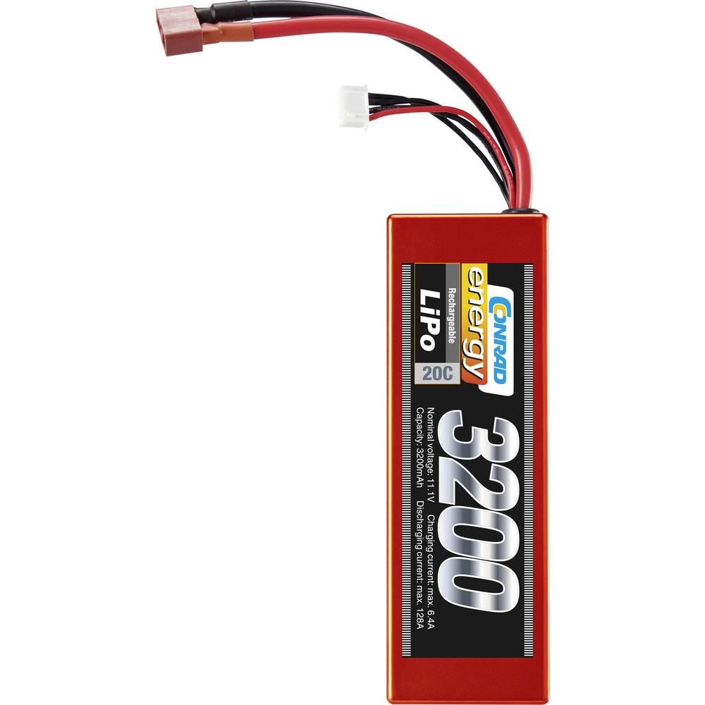 Modelarstvo - akumulatorski paket (LiPo) 11.1 V 3200 mAh 20 C Conrad energy Hardcase T-vtičnica