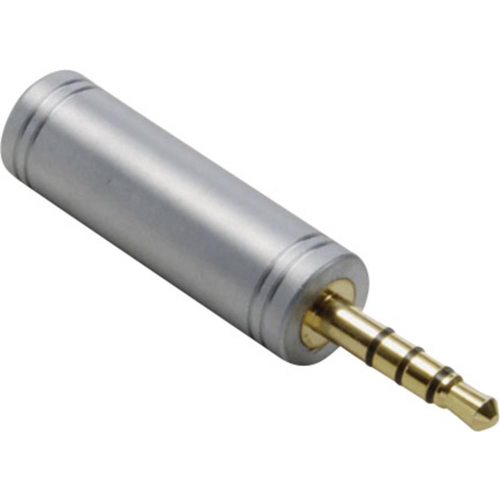 Klinken avdio adapter [1x klinken vtič 3.5 mm - 1x klinken vtičnica 3.5 mm] zlate barve BKL Electronic