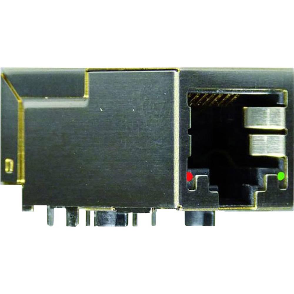 Modularna vgradna vtičnica vtičnica, vodoravna namestitev, št. polov: 8P8C+2 Y-CONJACK-21 kovinska, ponikljana Yamaichi Y-CONJAC