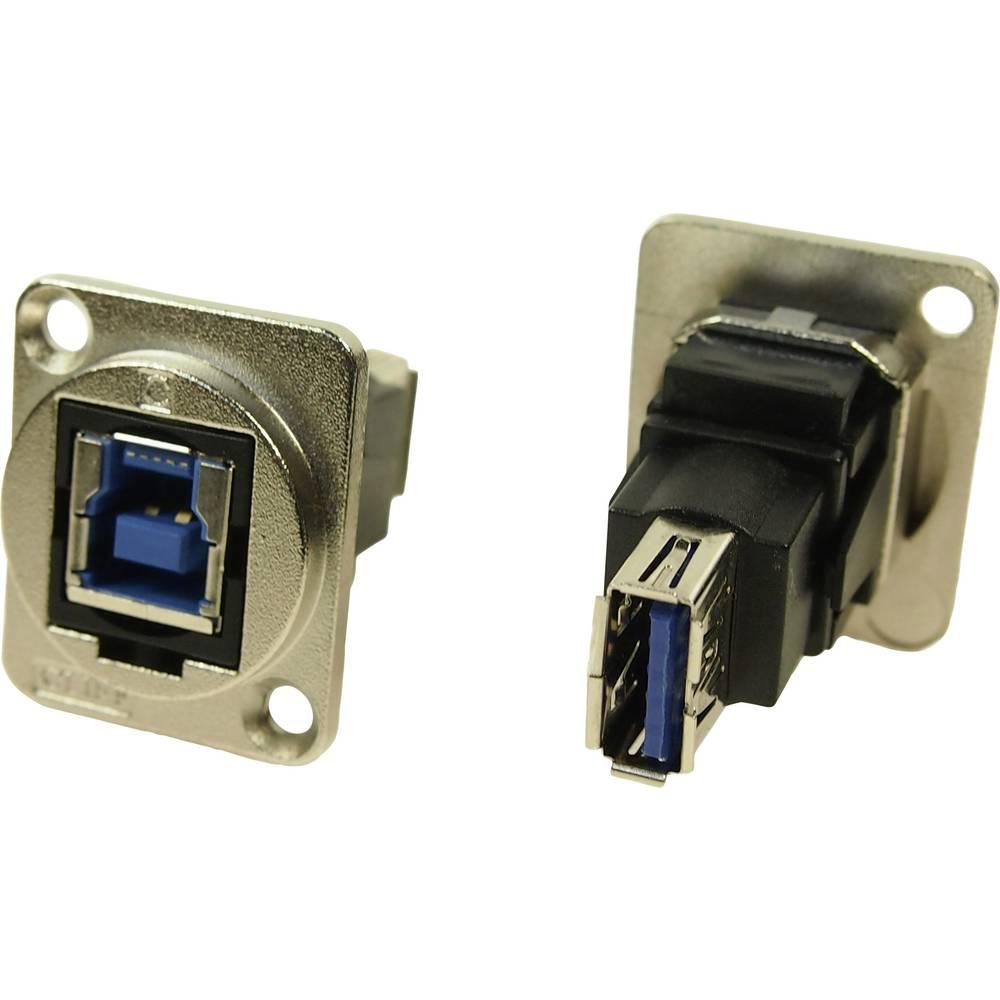 XLR adapter USB B vtičnica 3.0 na USB A vtičnico 3.0 adapter, vgradni CP30206NM Cliff vsebina: 1 kos