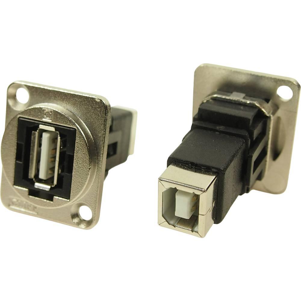 XLR adapter USB A vtičnica 2.0 na USB B vtičnico 2.0 adapter, vgradni CP30209NM Cliff vsebina: 1 kos