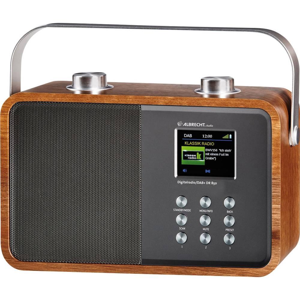 DAB+ radio DR 850 Albrecht Radio s ručkom, drvo, srebrna